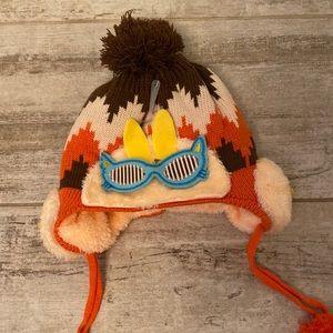 Other - Monkey fluffy pompom hat size 3